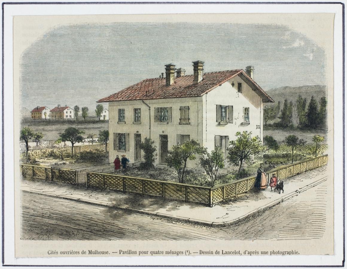La cit ouvri re en images - Maison de jardin kit mulhouse ...