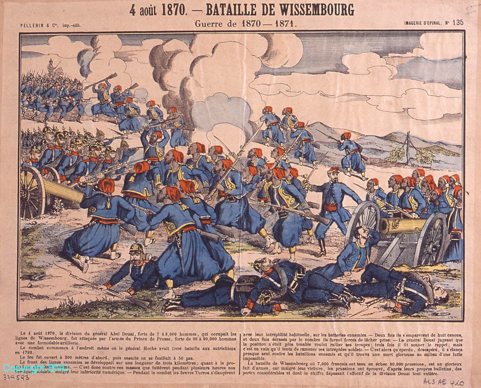 Bataille de Wissembourg, 4 août 1870, guerre de 1870-1871