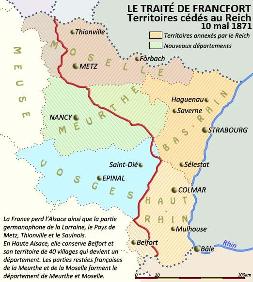 Carte Annexion Alsace Lorraine.1900 L Alsace A La Veille De La Premiere Guerre Mondiale