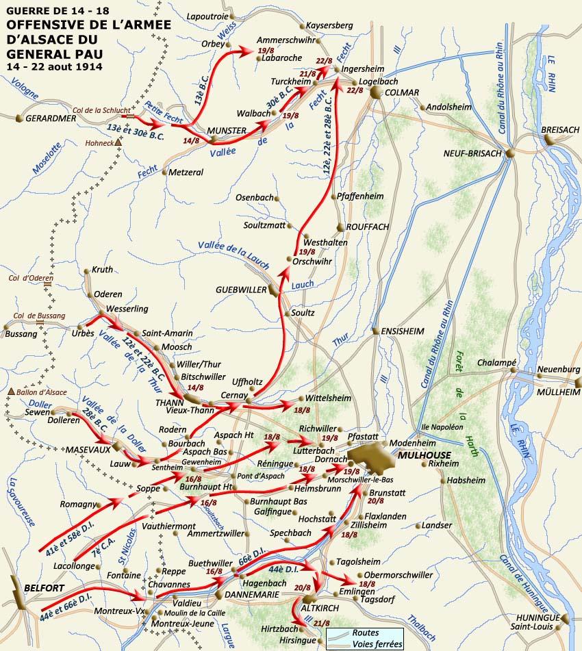 Carte Alsace Lapoutroie.Le Front Alsace Vosgesdurant La Premiere Guerre Mondiale