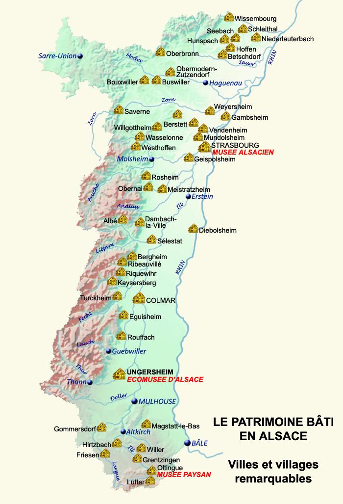 Carte Alsace Bergheim.Reperes Cartographiques L Habitat En Alsace