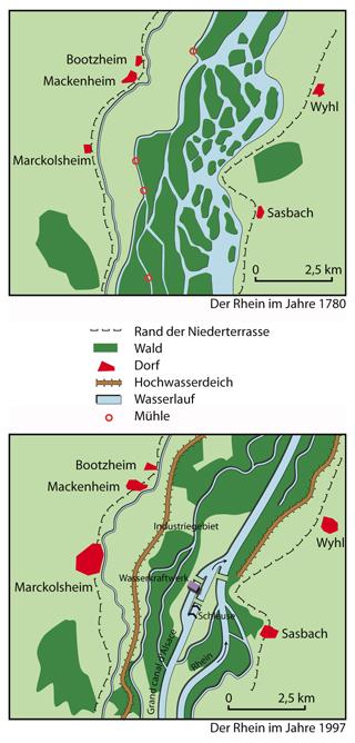 Rhein Früher Und Heute